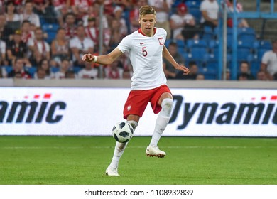 Poznan, Poland. 8th June, 2018. International Football friendly match: Poland v Chile 2:2. In action Jan Bednarek.