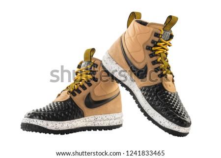 online store 3bc1c 173f7 POZNAN, POLAND- April 12, 2018  Nike Lunar Force 1 Duckboot  17
