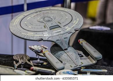 Poznan, Poland, April 29, 2017 Pyrkon - Fantasy Convent - Star Trek USS Enterprise
