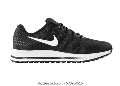POZNAN, POLAND- January 28, 2017: NIKE ZOOM VOMERO 12 men's running shoes isolated on the white background.