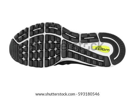 01674c78 POZNAN, POLAND- January 28, 2017: NIKE ZOOM VOMERO 12 men's running shoes  isolated on the white background. - Image