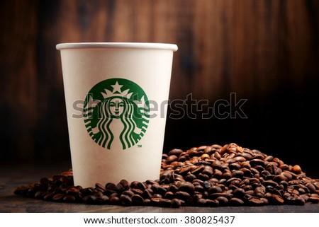 36ffdd79c61 POZNAN POLAND JANUARY 29 2016 Starbucks Stock Photo (Edit Now ...