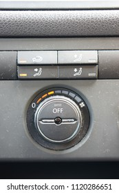 Poznan, Poland - July 12, 2015: Switch and buttons of a car airco