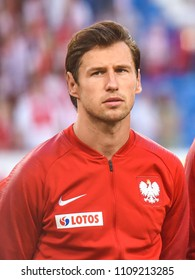 Poznan, Poland - June 8, 2018: International Football friendly match: Poland vs Chile 2:2.  On the picture Grzegorz Krychowiak.