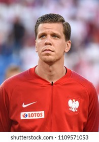 Poznan, Poland - June 8, 2018: International Football friendly match: Poland vs Chile 2:2.  On the picture Wojciech Szczesny.