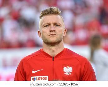 Poznan, Poland - June 8, 2018: International Football friendly match: Poland vs Chile 2:2.  On the picture Jakub Blaszczykowski.