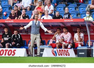 POZNAN, POLAND - JUNE 8, 2021: Friendly football match Poland - Iceland 2:2. Paulo Sousa head coach of Poland.