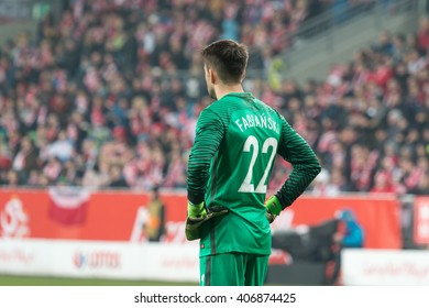 POZNAN, POLAND - MARCH 23, 2016: Lukasz Fabianski (Poland) during the friendly football match between Poland and Serbia at the Inea Stadium in Poznan.