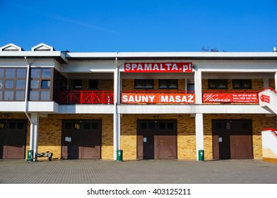 POZNAN, POLAND - MARCH 27, 2016: Sauna and massage salon Spa Malta on the Malta park