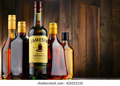 POZNAN, POLAND - MAY 18, 2016: Jameson is the best selling Irish whiskey in the world with annual sales of 4.7 million cases in 2014