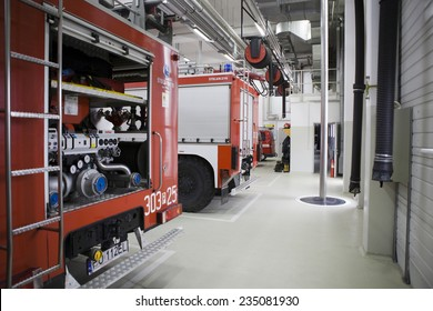 POZNAN, POLAND - MAY 9, 2014: Modern fire station in Poznan.