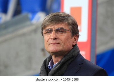 POZNAN, POLAND - NOVEMBER 19: Adam Nawalka, new coach of Poland national football team during friendly football match between Poland and Ireland on November 19, 2013 in Poznan, Poland.