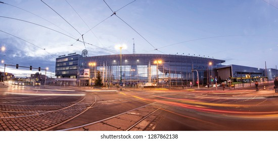 POZNAN, POLAND-SEP 26, 2018: The Poznan International Fair is the biggest industrial fair in Poland. It is held on the Poznan fairground in Poland.
