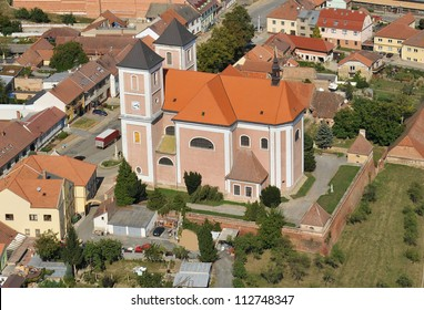 Pozorice at Brno, baroque church, venue Napoleonic Battle of Austerlitz 1805