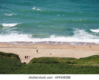Praa Sands beach and its turquoise sea on a summer's day