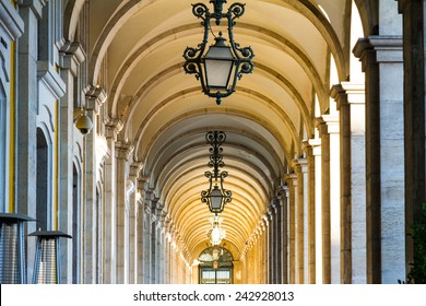 The Praca do Comercio (Commerce Square) is located in the city of Lisbon, also known as Terreiro do Paco