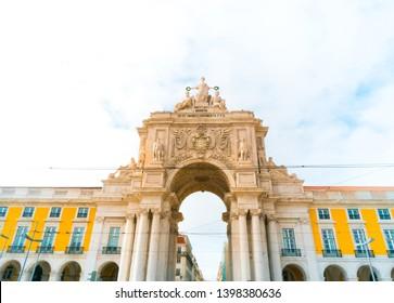 Praca do Comercio in downtown of Lisbon