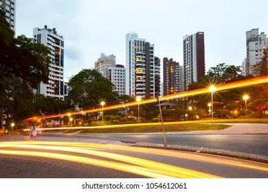 Praca do Japao (Japan Square), in the wealthy neighborhood of Batel, Curitiba, Parana State, Brazil