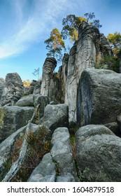 Prachov rocks in the spring