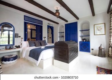 Prachuabkirikan, Thailand - June 11, 2011 : Moroccan style luxury bed room