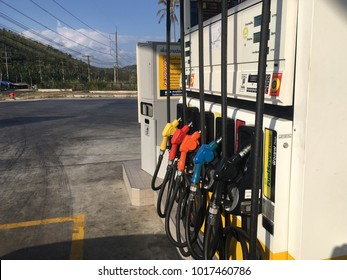Prachuap Khiri khun,THAILAND-FEB 2,2018 : Shell gas station.Shell is an Anglo-Dutch multinational oil and gas company headquarter in the Netherland and UK located on Petkasem road in Thailand.