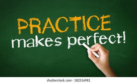 Practice Makes Perfect Chalk Illustration