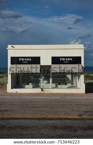e40bcc37d5fb Prada Marfa Art Installation Valentine Texas Stock Photo Edit Now