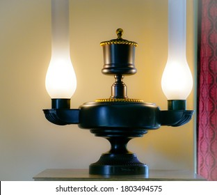 PRADHUMAN Attractive & Designer Colorful Hand Decorative Sconce Glass Wall Lamp Light with All Fitting & Fixture.