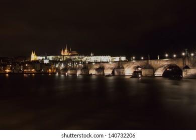 Prag Charles Bridge Czech Republic and the Prague castle