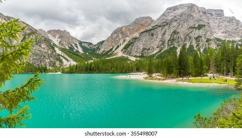 Pragser Wildsee (Lago di Braies), Italy