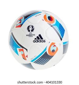 PRAGUE April 10,  2016: Adidas BEAU JEU official Ball for the UEFA EURO 2016 football tournament in France Europe