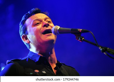 PRAGUE - APRIL 25: Singer James Dean Bradfield of Manic Street Preachers during performance in Prague, Czech republic, April 25, 2012.
