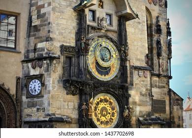 The Prague astronomical clock, Prague.