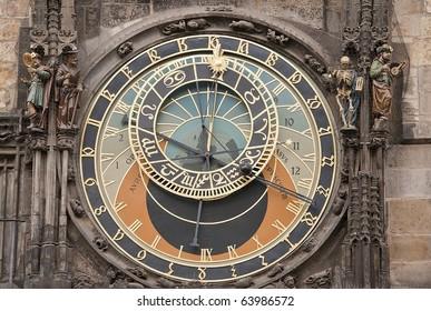 The Prague Astronomical Clock is a medieval astronomical clock located in Prague, the capital of the Czech Republic.