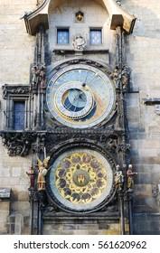 The Prague Astronomical Clock at Old Town Square, Prague, Czech Republic