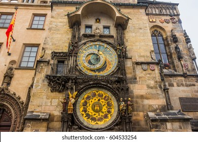 Prague Astronomical clock in old town square