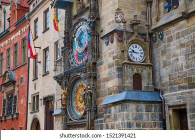 The Prague Astronomical Clock, or Prague Orloj, is a medieval astronomical clock located in Prague.
