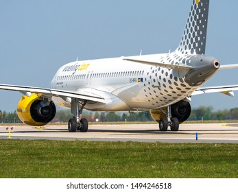 PRAGUE - AUGUST 31, 2019: Vueling Airlines (VLG/VY) Airbus A320 NEO at Vaclav Havel airport Prague (PRG) AUGUST 31, 2019 in Prague, Czech Republic.