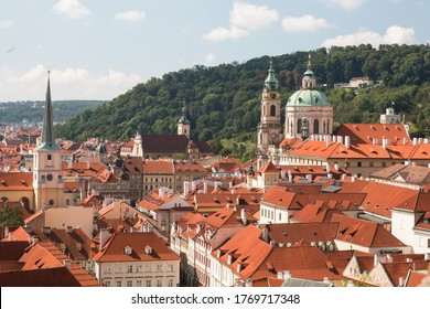 Prague beautiful Cityscape and Rooftops