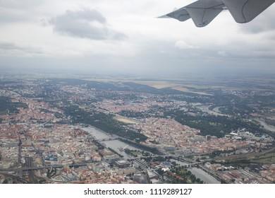 Prague from a bird's-eye view.