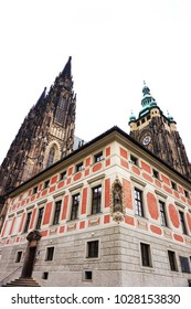 Prague castle building as nice architecture background