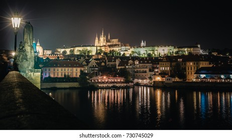 Prague Castle, Hradcany Czech Republic at night