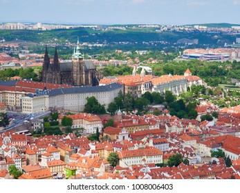 Prague Castle, St Vitus Cathedral in the old town of Prague, Czech Republic.