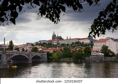 Prague, the Castle and St. Vitus Cathedral. Czech Republic, Europe, UNESCO heritage