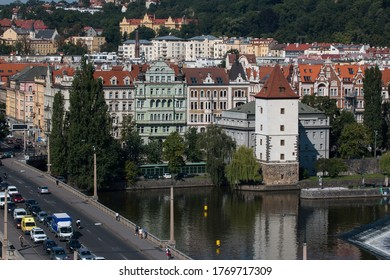 Prague Central Buildings from above