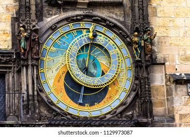 Prague chimes or eagle clock (Czech Prazsky orloj, also Czech Staromestsky orloj) .The medieval clock tower, mounted on the south wall of the Old Town Hall tower