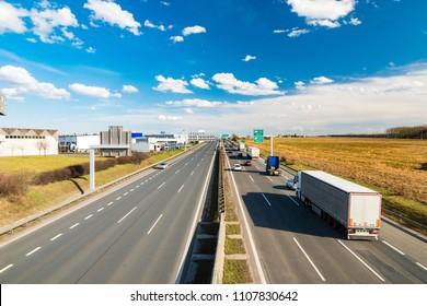 Prague Circuit highway, Prague, Czech republic