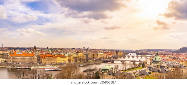 Prague city panorama, Czech Republic