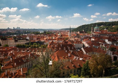 Prague Cityscape with beautiful rooftops