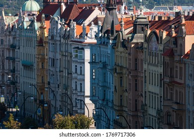Prague Colorful Buildings from above